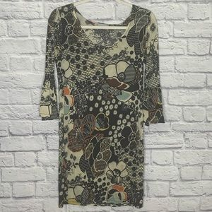 Missoni Floral Geometric Bodycon Mini Dress
